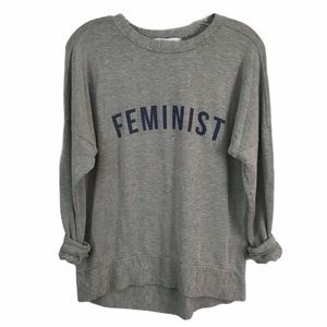 DAYDREAMER SZ Sm FEMINIST SWEATSHIRT